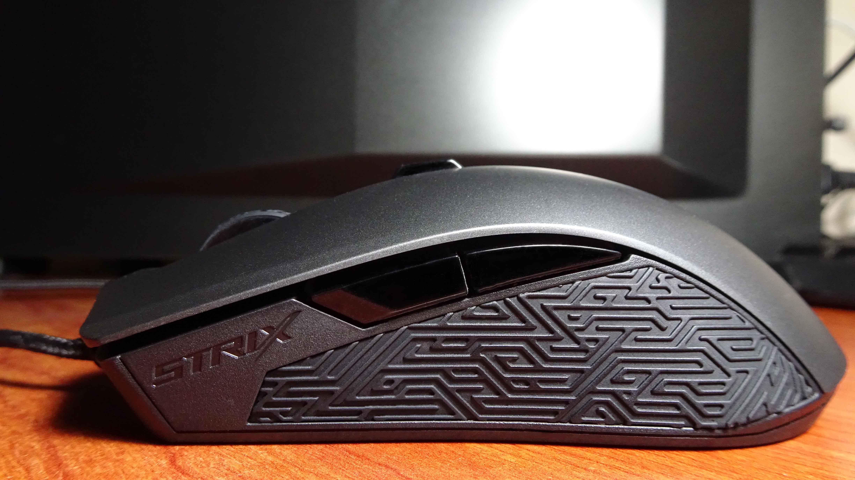 Asus ROG Strix Evolve Gaming Mouse Alçak Profil Soldan Görünüm